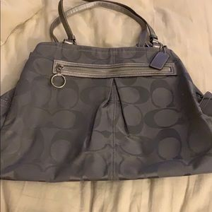 Beautiful Silver Coach Tote
